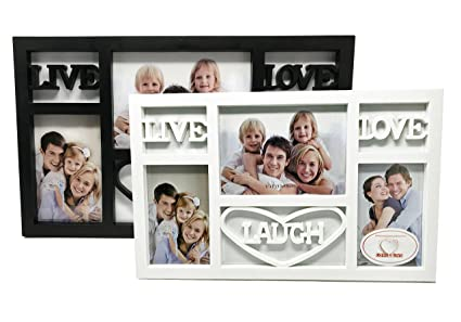 Amazon.com - Live Laugh Love Picture Frame Black and White 2 Pack -