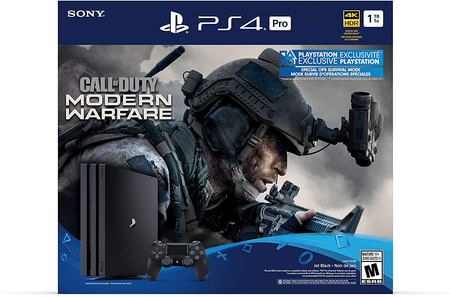 Amazon Com Playstation 4 Pro 1tb Console Call Of Duty Modern Warfare Bundle Electronics
