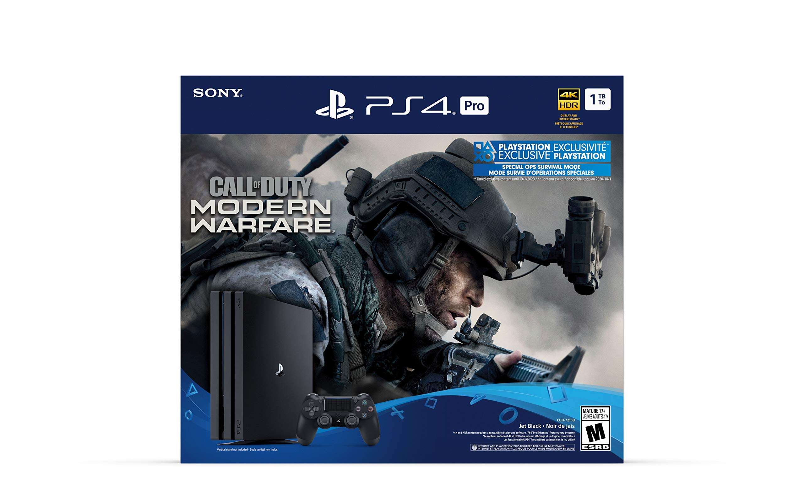 Consola PlayStation 4 Pro de 1 TB - Paquete de Call of Duty: Modern Warfare