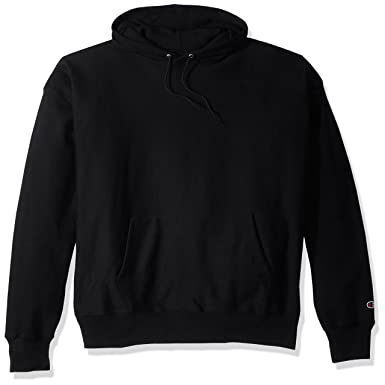 d91d291c33ab Champion Men's Men' Reverse Weave Fleece Pullover Hoodie, Black, ...