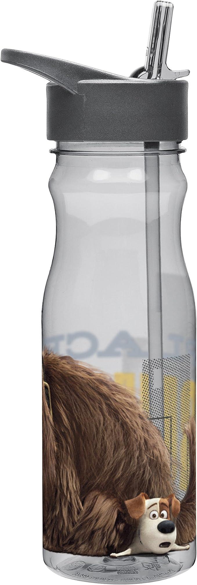 Water Bottle with Straw Zak Designs SLPA-P280 Secret Life of Pets 25 oz Max /& Duke Multicolor