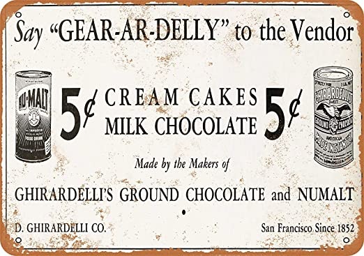 Toddrick 1937 Ghirardelli - Cartel de Galletas de Chocolate ...