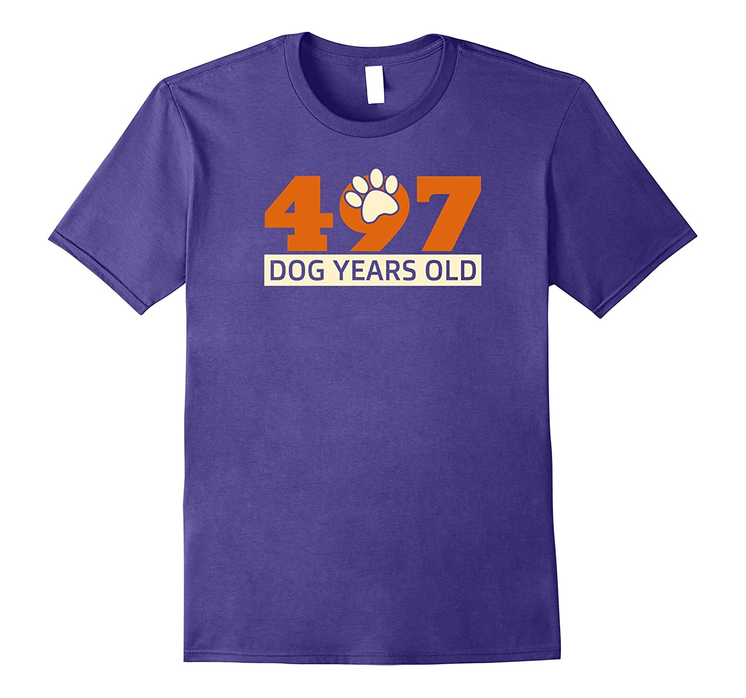 497 Dog Years Old Funny 71 Birthday Dog Lover T-Shirt-4LVS