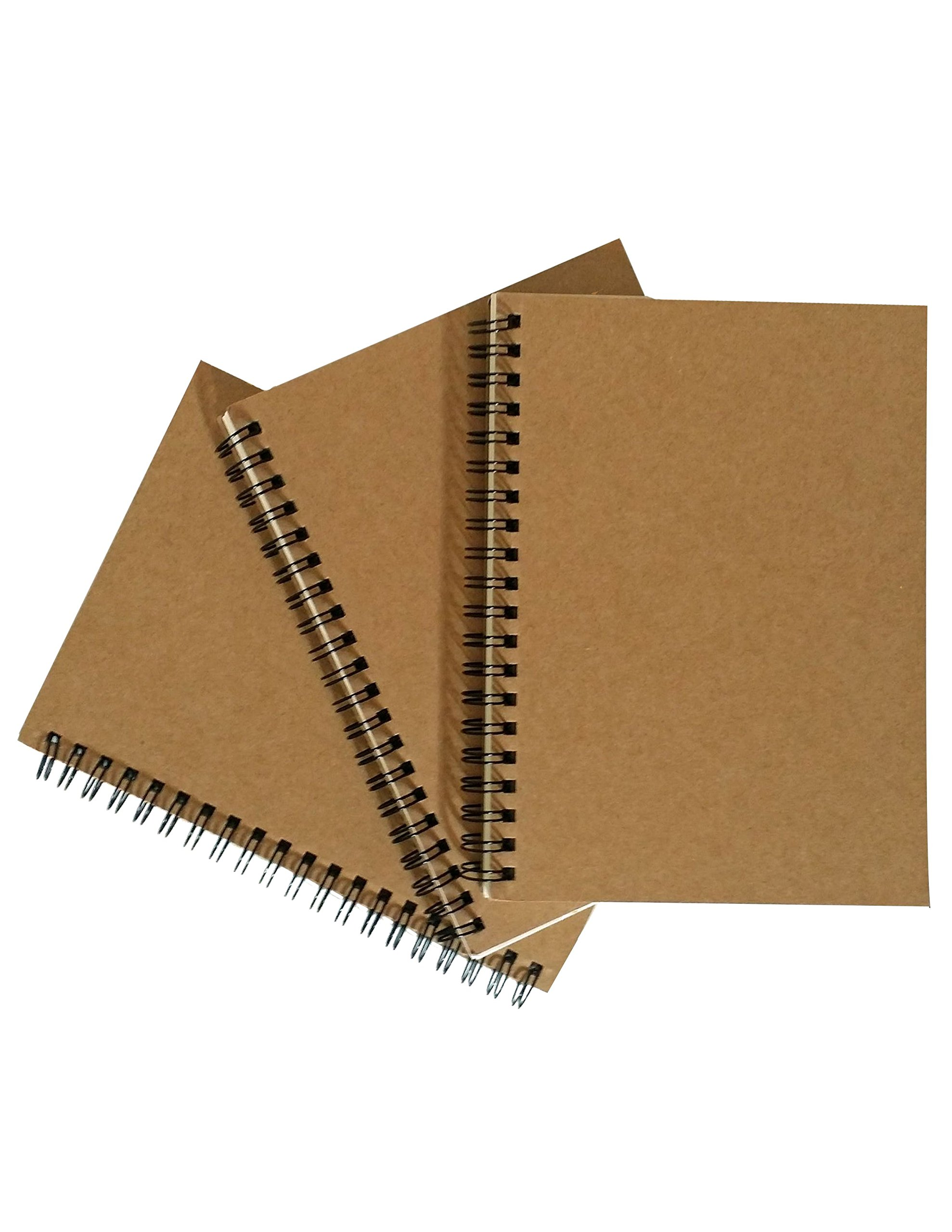 Notepads with Kraft Paper Covers (5 x 7 Notebooks Set of 3)