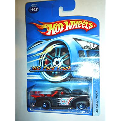 Hot Wheels #2006-142 '40 Ford Truck Black Collectible Collector Car Mattel 1:64 Scale: Toys & Games
