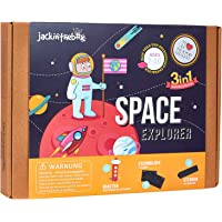 Space Themed STEM Educational Craft Toy for Boys and Girls | 3 Activities-in-1 Kit | Best Gift for kids Aged 7-10 years…