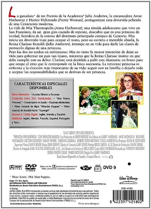 Princesa Por Sorpresa [DVD]: Amazon.es: Anne Hathaway, Heather Mattarazzo, Mandy Moore, Caroline Goodall, Robert Schwartzman, Hector Elizondo, Julie Andrews ...