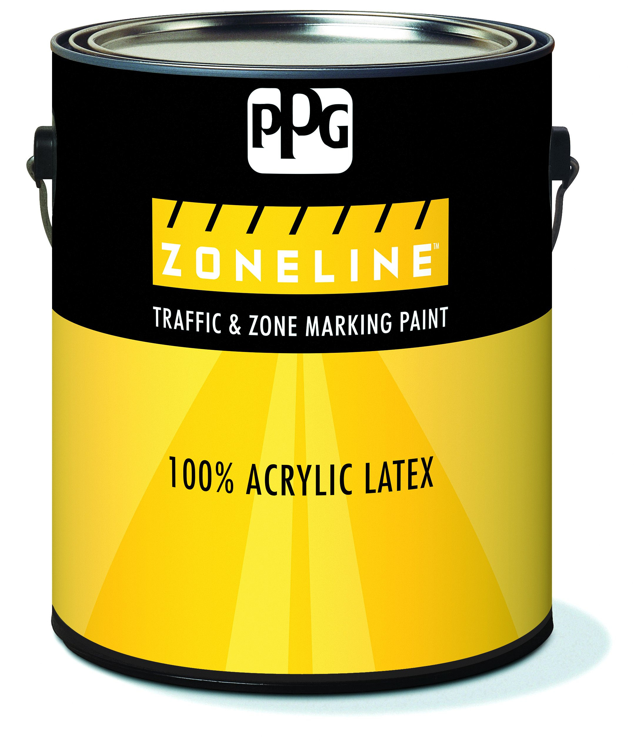 11-54/01 Acrylic Paint, Flat, 1 gal, Zoneline, Traffic and Zone Marking, Yellow