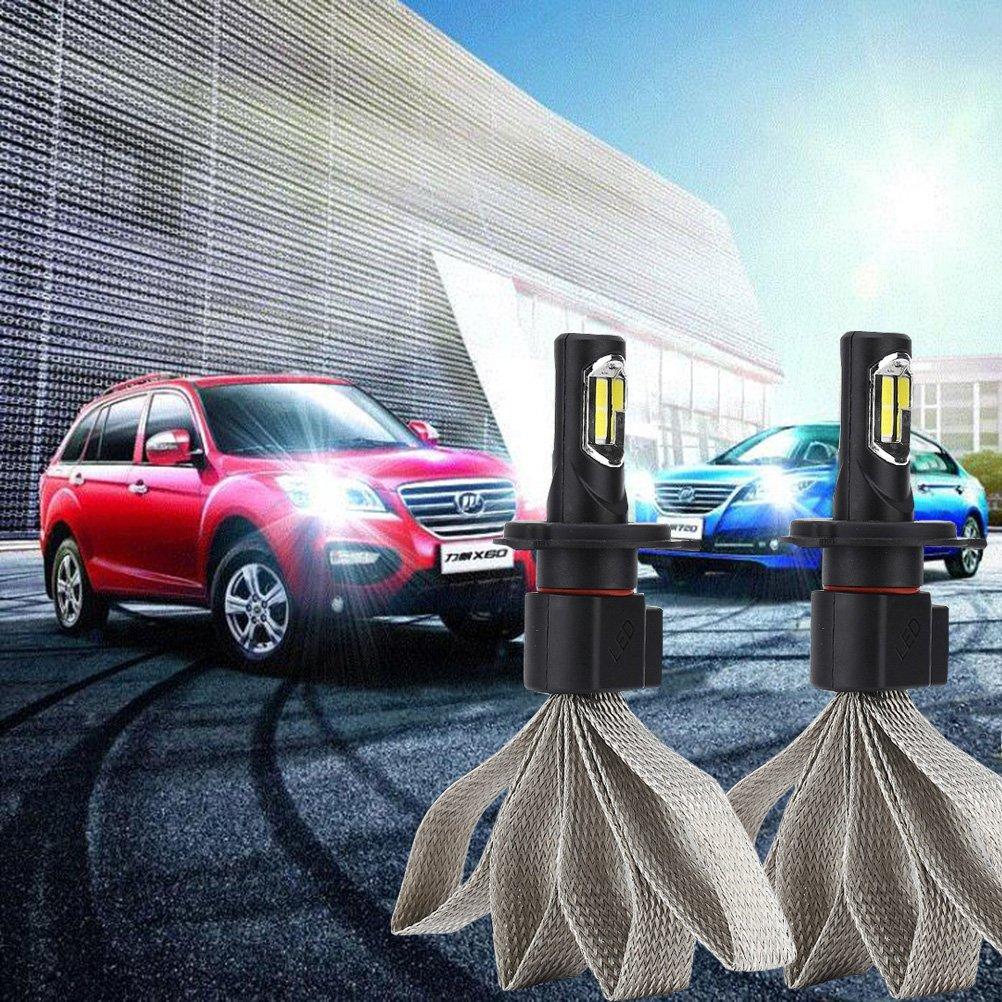 Ralbay H4 High Low LED Faro Bulbi Auto LED Luci 8000LM Super Luminosa Lampada con COB Chip per Auto veicolo Faro Della Luce Delle Lampadine dell'automobile Kit LED 6000K Bianco 9-30V