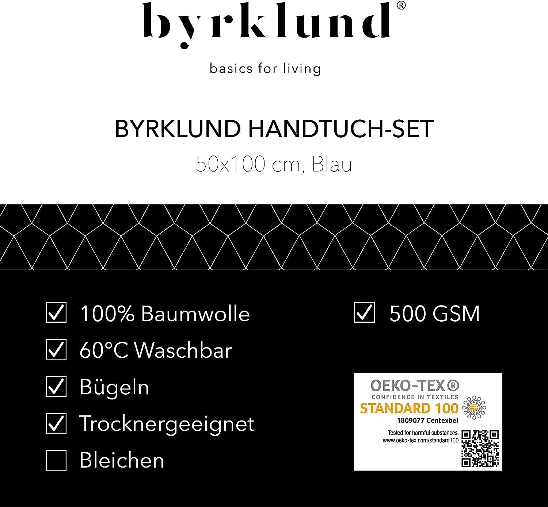 8 Handt/ücher 50x100 cm 100/% Baumwolle Byrklund Handtuch-Set 500g//m2 Mint