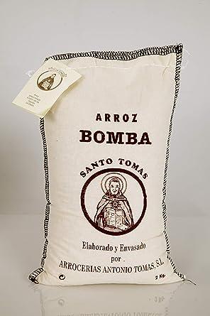 Santo Tomas Bomba Arroz D.O. en textil bolsa – 2 kg.: Amazon ...