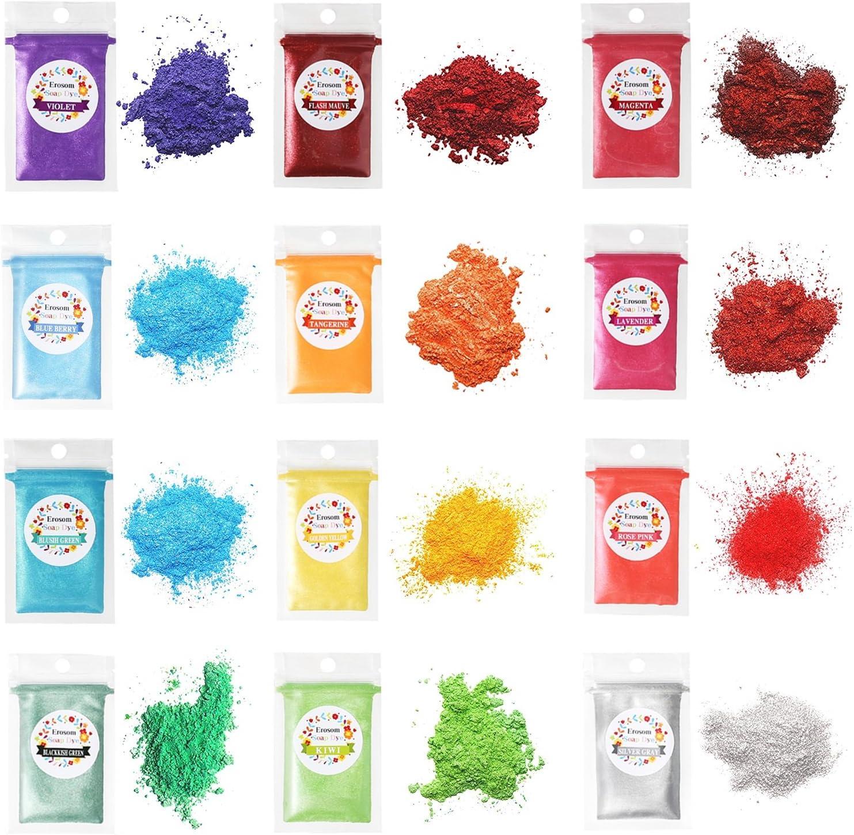 Set De Colorantes Para Hacer Jabon Erosom 12 Colores Mica