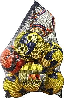 ITODA Large Mesh Ball bag Black Football Carry Sack Net Bag Sports Drawstring Training Equipment Duffel Bag Basketball Volleyball Soccer Rug Ball Football Carrying Bag with Drawstring for 10-15 Balls