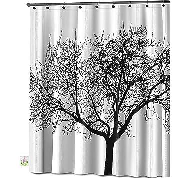 Mildew Resistant Shower Curtain Fabric   72x72 Tree Design Peva Curtain For  Bathroom   Waterproof Odorless