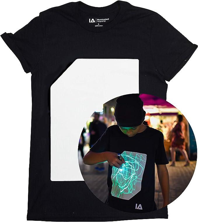 camisetas interactiva brilla en la oscuridad