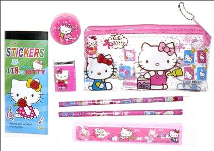 Kit de estuche Hello Kitty: Amazon.es: Oficina y papelería