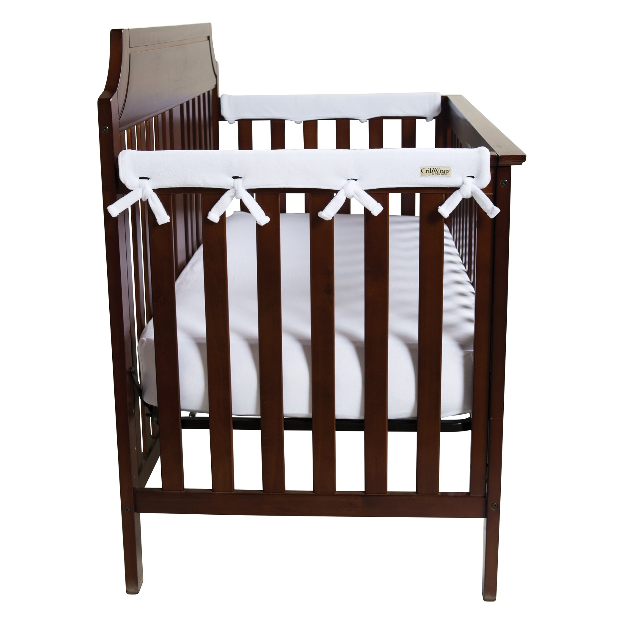 "Trend Lab Waterproof CribWrap Rail Cover - For Narrow Side Crib Rails Made to Fit Rails up to 8"" Around. Pack of 2!"