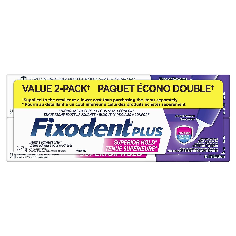 Fixodent Plus Gum Care Denture Adhesive Cream, 57g Procter and Gamble