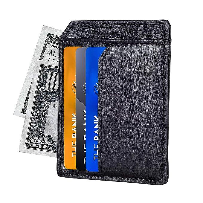 2d0937d64a83 Front Pocket Wallets for Men - RFID Blocking Wallet/Credit Card Holder  Wallet - Minimalist Leather Slim Wallet