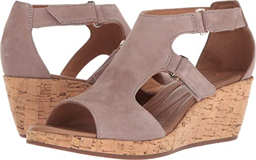 a95efa54148 Image Unavailable. Image not available for. Color  CLARKS Women s Un Plaza  Strap Warm Grey Nubuck ...