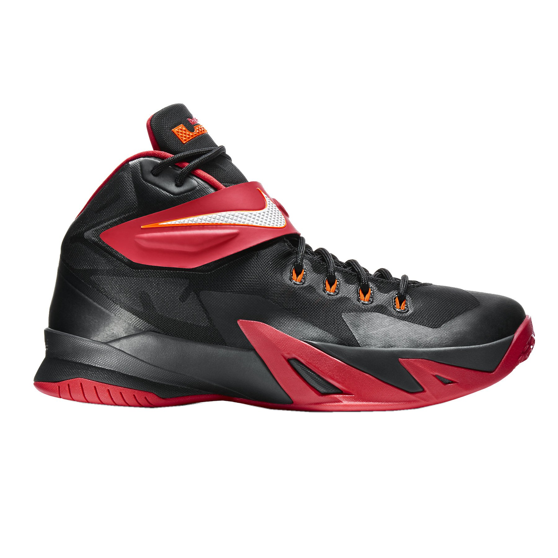 c301709e8ad Galleon - Nike Men s Zoom Soldier VIII Basketball Shoe Black Red White Size  9 M US