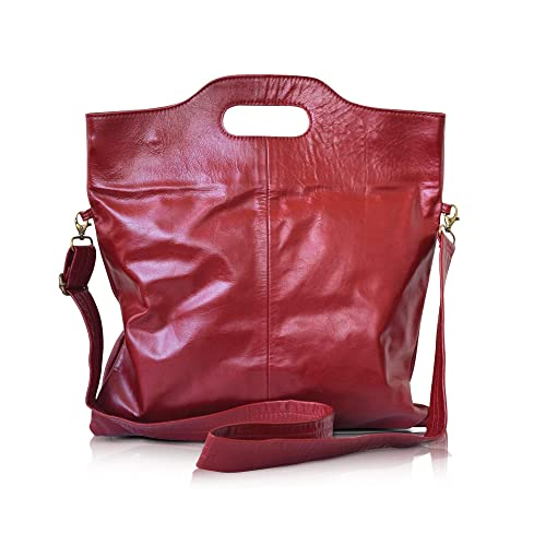 Amazon.com  handmade leather crossbody foldable over the shoulder ... eea5e29a923d4