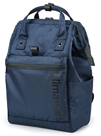 3e1e48595942 Amazon.com  Himawari Travel Backpack Laptop Backpack Large Diaper Bag  Doctor Bag Backpack School Backpack for Women Men (FSO-H001 Navy Blue)   Himawari ...