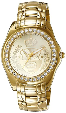 Marc Ecko Mens E11571G1 Encore Gold-Tone Rhino Bracelet Watch