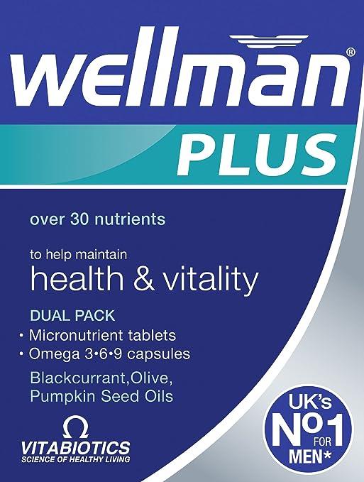 Vitabiotics Wellman Plus Omega 3 6 9 Healthy Vitality 56