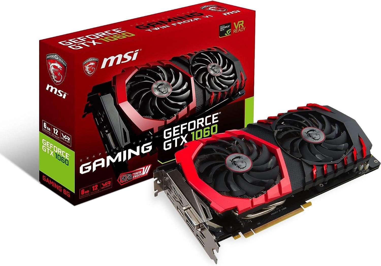 MSI GAMING GeForce GTX 1060 6GB GDRR5 192-bit HDCP Support DirectX 12 Dual TORX 2.0 Fan VR Ready Graphics Card (GTX 1060 GAMING 6G) (Renewed)