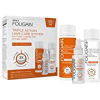 FOLIGAIN MEN'S TRIPLE ACTION COMPLETE SYSTEM FOR THINNING HAIR (3-Piece Trial Set)