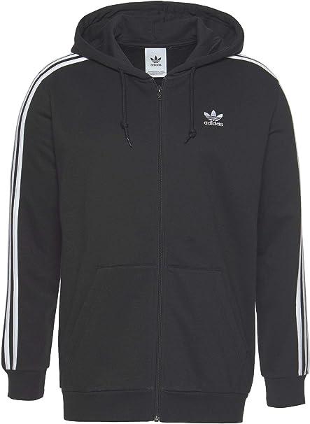 Adidas 3 Stripes Full Zip Hoodie Men Herren Kapuzen Jacke