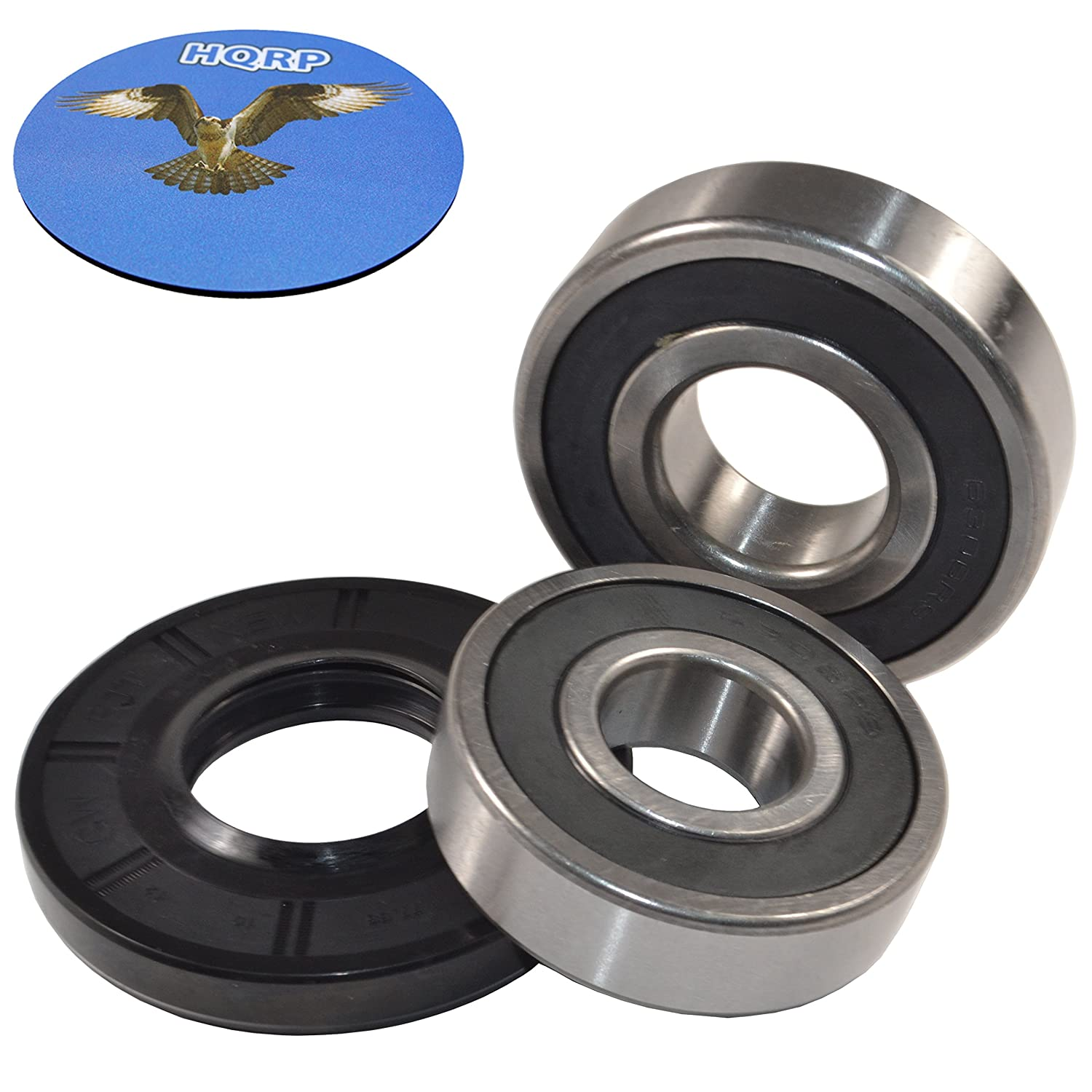 HQRP Bearing and Seal Kit Works with Samsung DC97-15328L WF209 WF210 WF218 WF219 WF220 WF231 WF330 WF331 WF340 WF350 WF361 WF363 WF365 WF407 WF409 WF410 WF419 Washer Tub + HQRP Coaster
