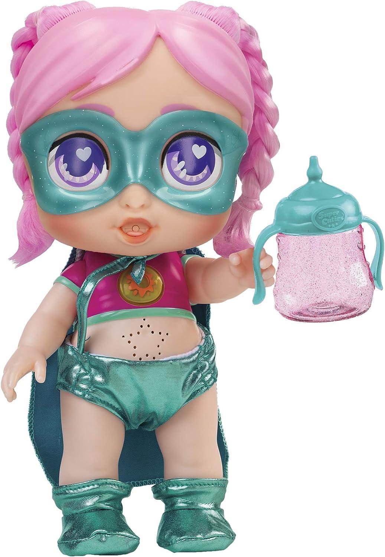Super Cute - Muñecas para niñas Super Cute Muñeca Interactiva superheroína Gabi con biberón mágico y Accesorios Muñecas Niñas 3 años Muñecas bebé recién nacido para niños niñas
