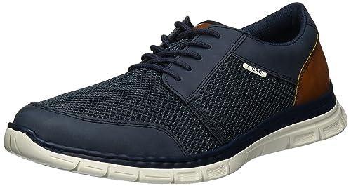 Hommes B4832 Chaussures Au Dessus Bas, Bleu, 8 Fr Rieker
