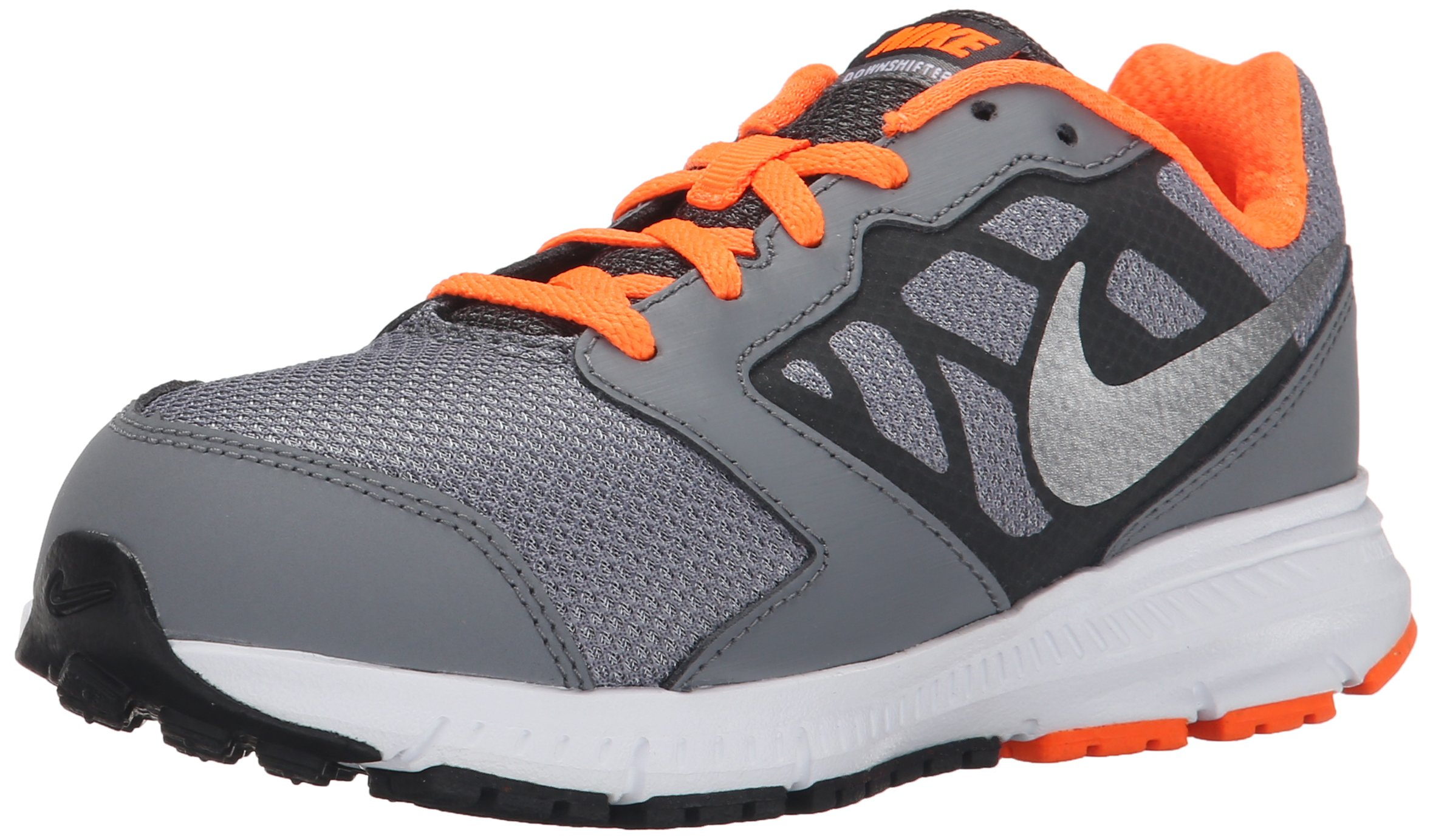 super popular e3fc9 9d46c Galleon - NIKE Boys  Downshifter 6 Running Shoe (GS PS), Cool Grey Metallic  Silver Total Orange, 4.5 M US Big Kid
