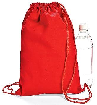 Amazon.com: Red Drawstring Backpacks (1 Dozen) - BULK: Toys & Games