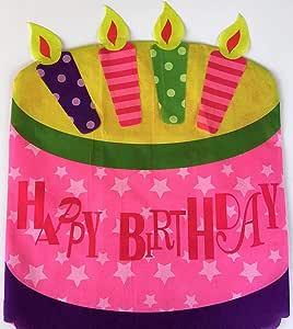 Amazon.com: Feliz Cumpleaños, diseño de silla – Tarta de ...