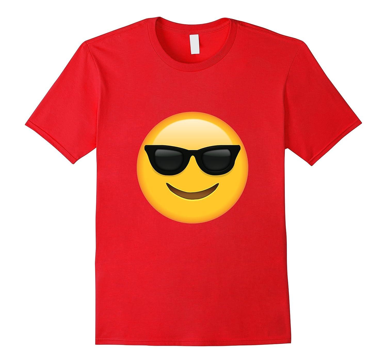 Glass Emoji Face T-shirt Emoticon Glasses Face Smile Tshirt-Vaci