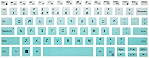 Leze - Ultra Thin Silicone Laptop Keyboard Skin Protector for 13.3-Inch Dell XPS 13 9370 9380,XPS 13 9365 2-in-1 Touch-Screen Laptop - Gradual Mint