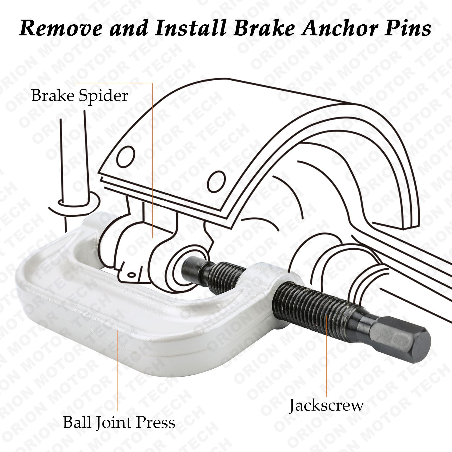 OrionMotorTech 22PCS Master Ball Joint Press | Upper and Lower Ball Joint Removal Tool | Automotive Mechanic Tool Set by OrionMotorTech (Image #5)