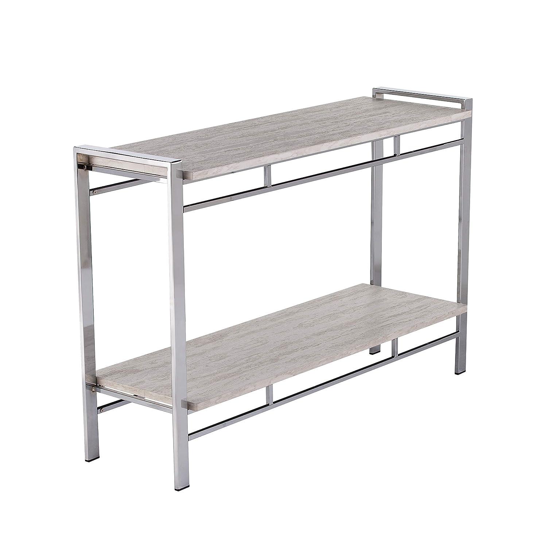 Amazon Com White Faux Marble Console Table Faux Marble Sofa Table