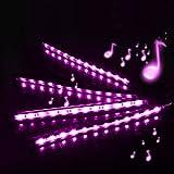 Top Notch 4 Pieces Multi-Color Car RGB LED Light Strip Under Dash Lighting Kit Music Car Interior Decorative Accent Lights w//Sound Active Function Remote Control DC 12V Car LED Strip Lights
