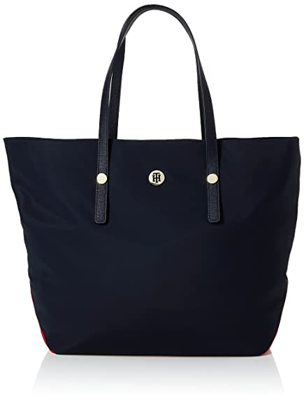 50cb395ac2 Tommy Hilfiger City Tote Nylon, Women's Shoulder Bag, Blue (Corporate Cb),