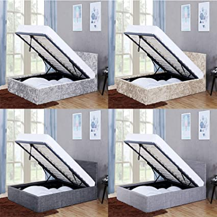 Home Discount Veronica Double Ottoman Bed 4ft6 Bed Frame Storage