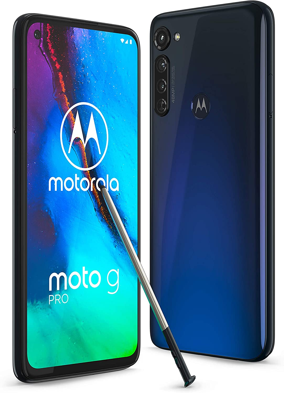 Motorola Moto G Pro XT2043-7 Dual SIM 128GB + 4GB RAM (GSM Only | No CDMA) Factory Unlocked 4G/LTE Smartphone (Mystic Indigo) - International Version