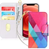 """FYY Case Compatible for iPhone 12 /iPhone 12 Pro 5G 6.1"""", [Kickstand Feature] Luxury PU Leather Wallet Case Flip Folio Cover"""