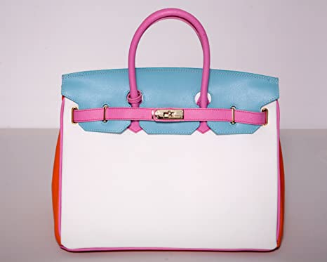 a2af302710 Image Unavailable. Image not available for. Colour  Pure Italy Carbotti  Light  Birkin  Bag