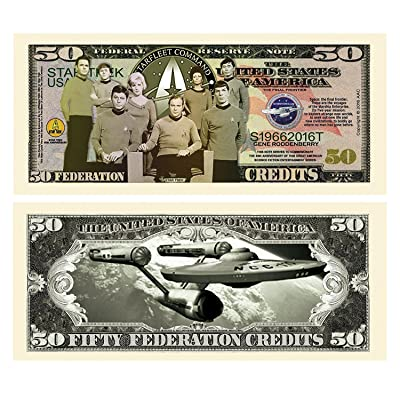 "5 Limited Edition Star Trek 50th Anniversary Collectible Bills with Bonus ""Thanks a Million"" Gift Card Set: Everything Else"