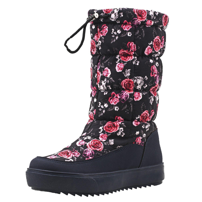 1bdf51383d341 Shenji Scarpe Donna Invernali - Stivali da Neve Con lo Zip la larghezza  Gambale Adattabile H7624  Amazon.it  Scarpe e borse